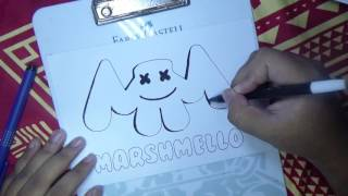 HOW TO DRAW MARSHMELLO LOGO