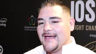 ANDY RUIZ REVEALS HE WILL BE AT SIMILAR WEIGHT TO FIRST FIGHT / BELIEVES JOSHUA NEW PHYSIQUE IS BAD