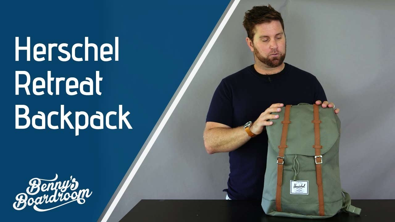 a0228f9822a3 Herschel Retreat Backpack Walkthrough - Benny s Boardroom - YouTube