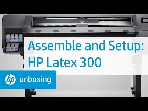 Assembling the HP Latex 300 Printer Series