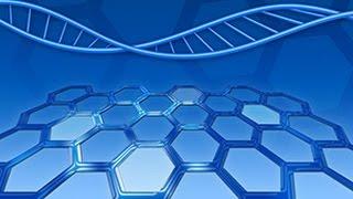 абстрактный рисунок спирали ДНК в Photoshop