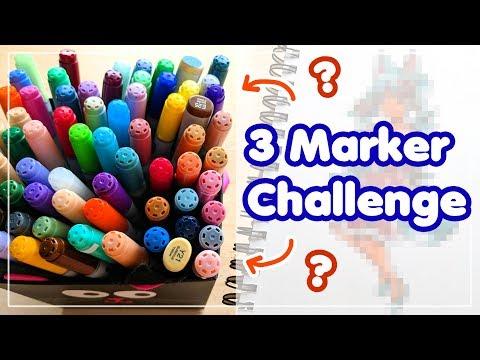 ☆ 3 MARKER CHALLENGE || The Markers Have SPOKEN!! ☆