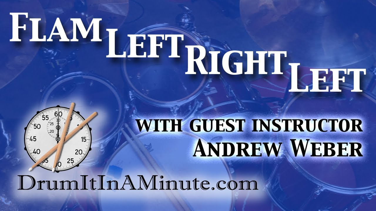Download Flam Left Right Left drumset fill lesson: with guest instructor Andrew Weber