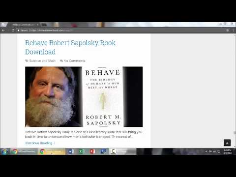 Behave by Robert Sapolsky Book [ PDF EPUB ]
