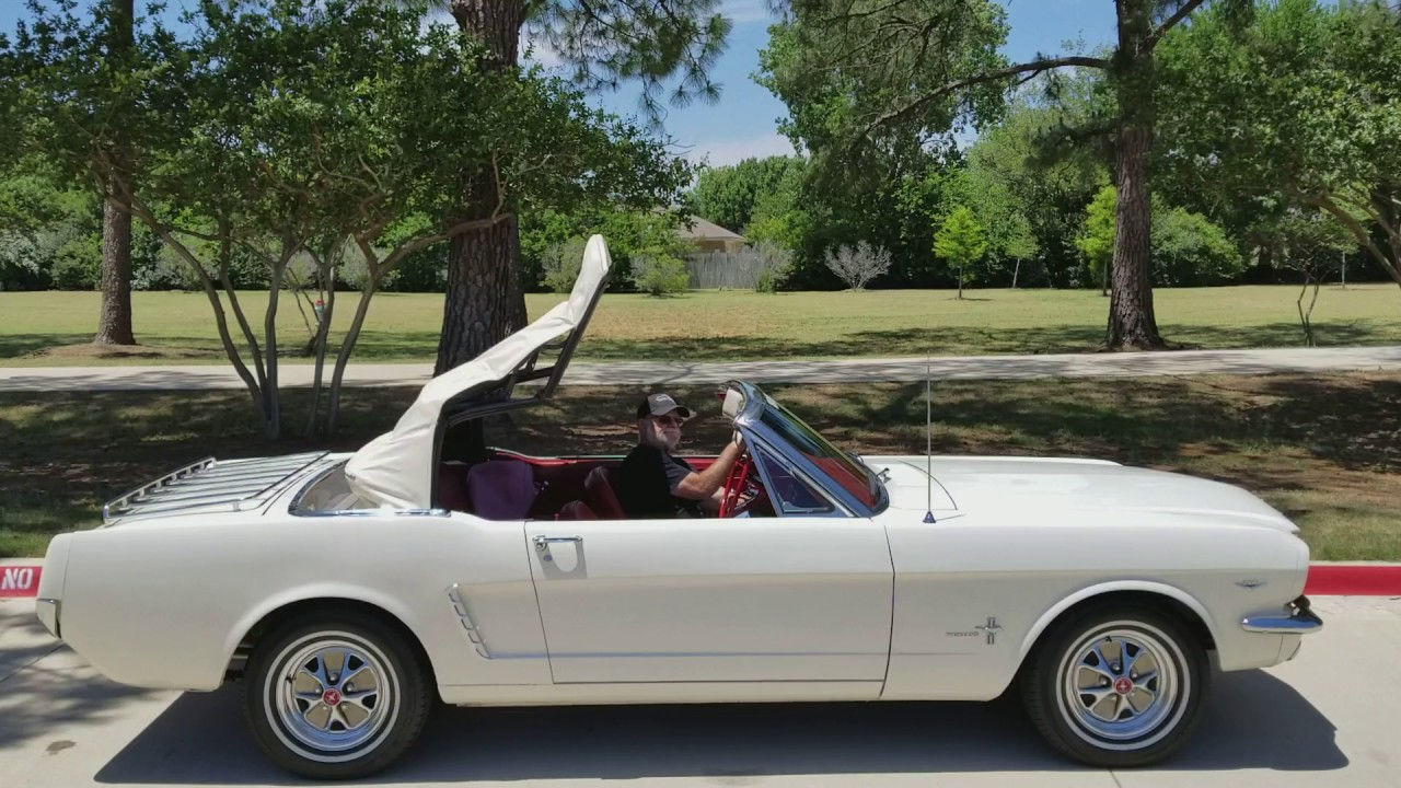 1965 ford mustang convertible top operation