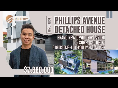 Singapore Brand New Developer Landed Property: Phillips Avenue 3.5 Storey with Private Pool ($7.68M)