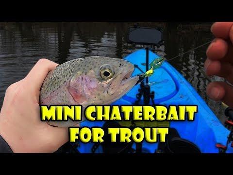 Fishing NJ Trout Opening Day Using Zman Chatterbait Flashback Mini