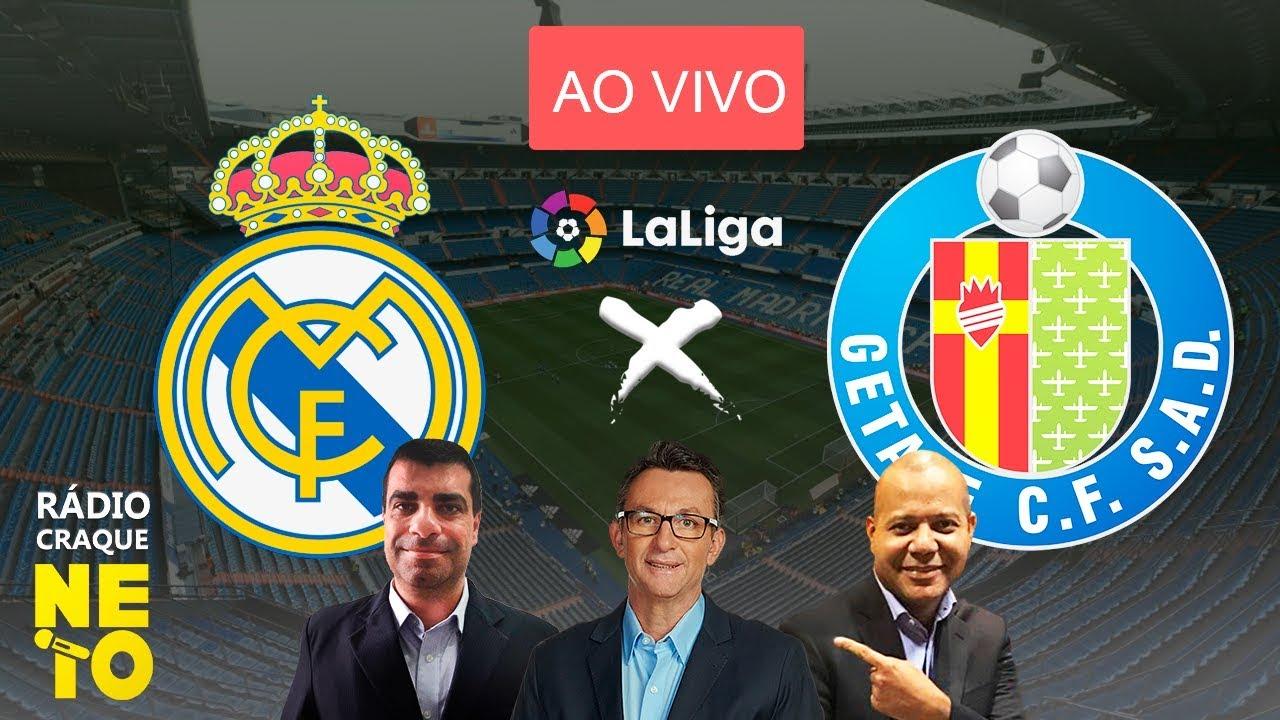 Real Madrid x Getafe   AO VIVO   La Liga - Campeonato Espanhol   Rádio Craque Neto