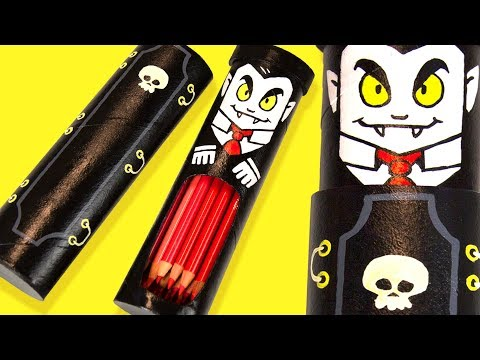 DIY Vampire Coffin Pencil Case | Halloween Ideas for Kids on Box Yourself