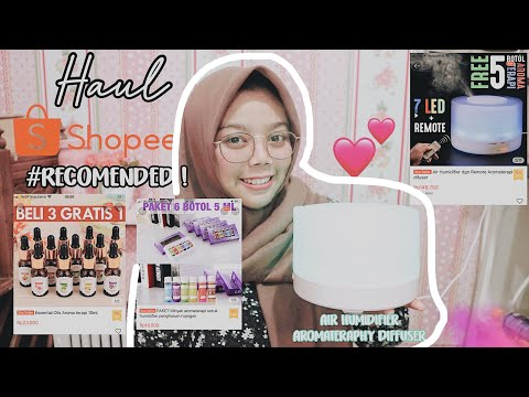 SHOPEE HAUL : AIR HUMIDIFIER AROMATERAPHY DIFFUSER RECOMENDED!🤗 #Nomakeup