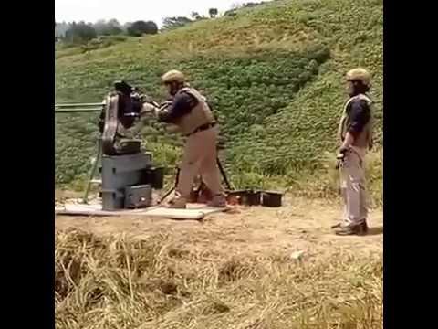 GAU 19 firing test for Indonesian Marine
