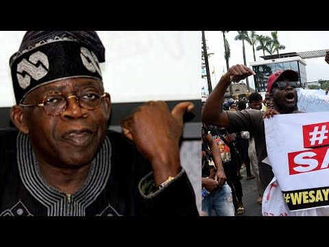 SEE THE MAN THAT CHALLENGED BOLA AHMED TINUBU ABOUT #ENDSARSPROTEST