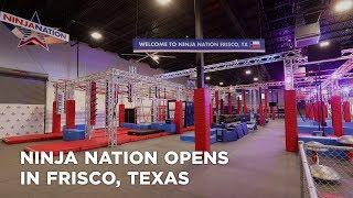 Ninja Nation opens in Frisco, Texas Video
