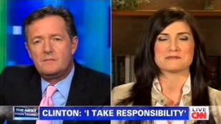 Piers Morgan and Dana Loesch Clash Over Benghazi, Whether Clinton Should Have Been Fired