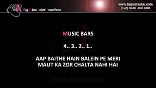 Aap baithe hain balin pe meri - Video Karaoke - Zamad Baig - (Nusrat Fateh Ali) - by Baji Karaoke