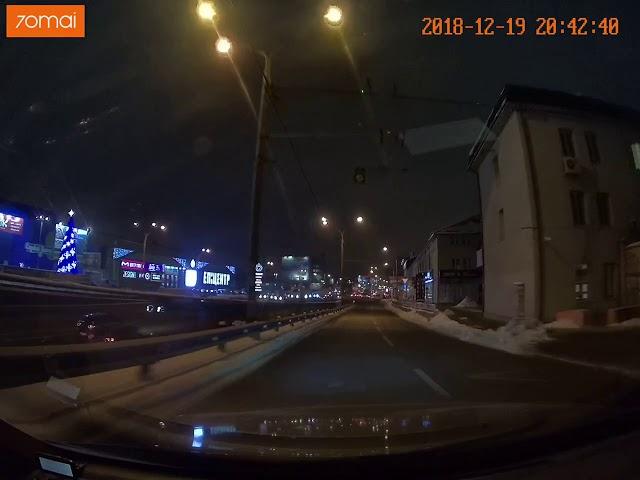 Видео с видеорегистратора 70mai car dash cam pro