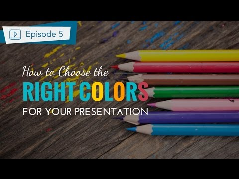 how to make a presentation part 2 choose the best color for your