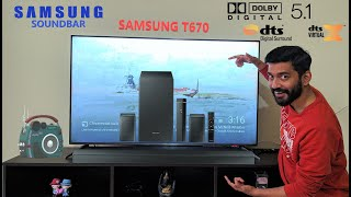 Samsung T670 460W 5.1 Sound bar Unboxing video |