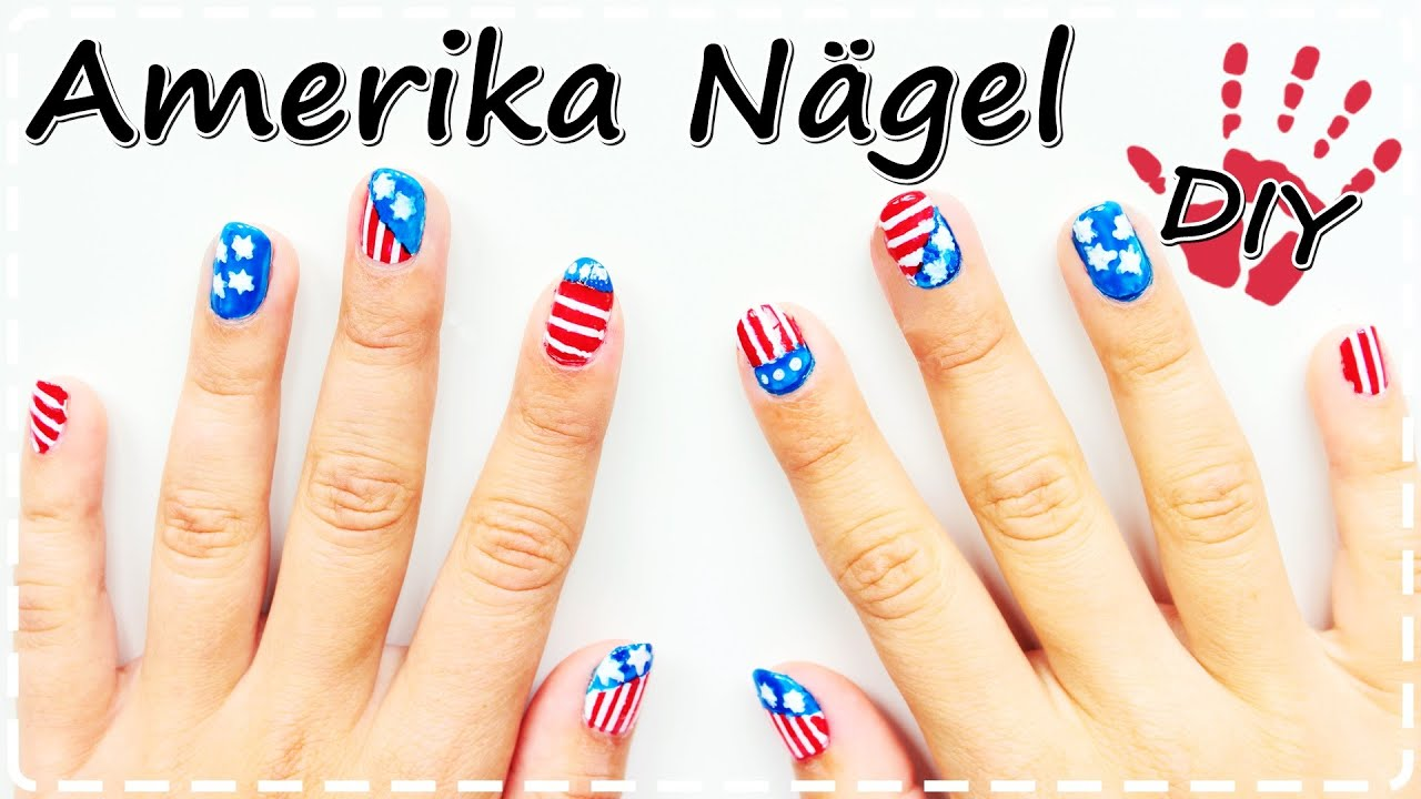 DIY- Amerika Nägel | Nail-Art Design | American Flag - YouTube