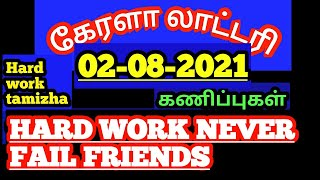 KERALA LOTTERY/02-08-2021/TODAY GUESSINGS FRIENDS