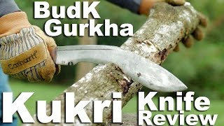 The $20 BudK Budget Gurkha Kukri knife review. A cheap fun chopper.