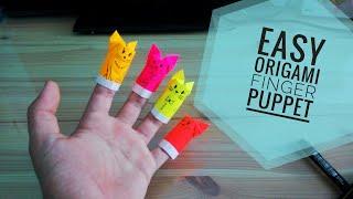 Easy Origami Finger Puppet Cat 🐈
