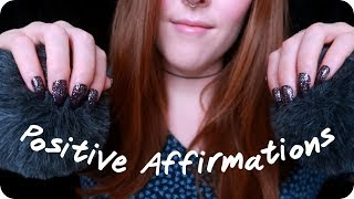 ASMR Positive Affirmations & Fluffy Brain Scratching | For Anx…