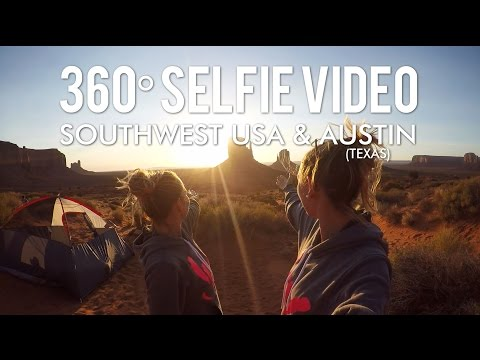 deaf travel | 360° selfie video - SOUTHWEST USA & AUSTIN
