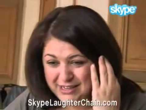 Skype laughter chain (monkey woman)