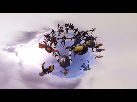 GoPro VR: Skydiving Record Attempt and Parachute Malfunction