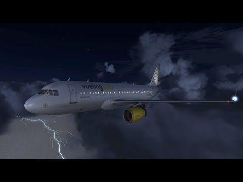 VUELO AIRBUS 320 DE MELILLA A MALAGA CON TURBULENCIAS  FSX + REX 4 | JMGamer