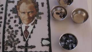 500 Parça Art Atatürk Puzzle Time Laps , Puzzle Videosu