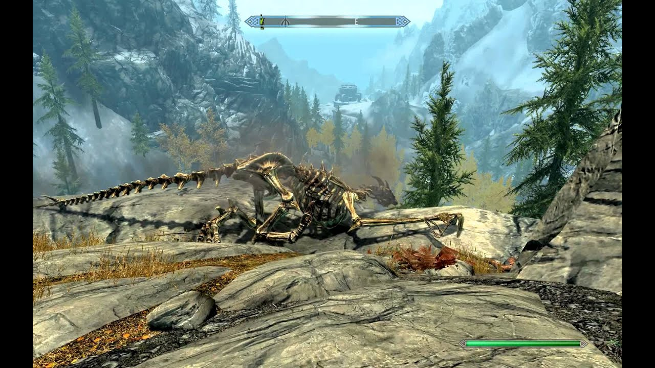 Skyrim the old bug of things flying around after loading a game