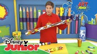 Art Attack Bastelclip #55: Regenmacher | Disney Junior