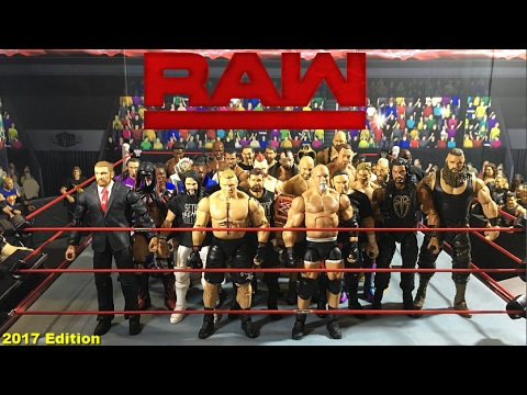 WWE Raw Roster 2017 | WWE FIGURE COLLECTION