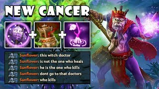 [Witch Doctor] New Meta Roaming Support 9Min Spirit Vessel + Maledict FullGame Dota 2 7.21