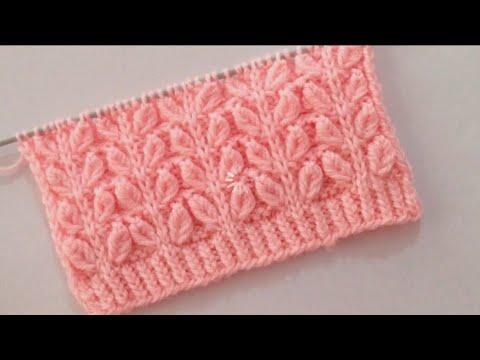 Leaf stitch Pattern For Ladies Cardigan