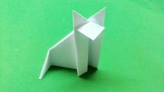 Как сделать котёнка из бумаги / ORIGAMU PLAY