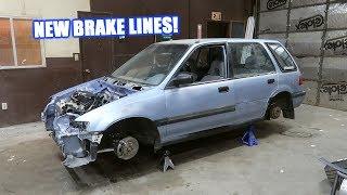 Wago's Engine Bay Gets A Brake Line Tuck!