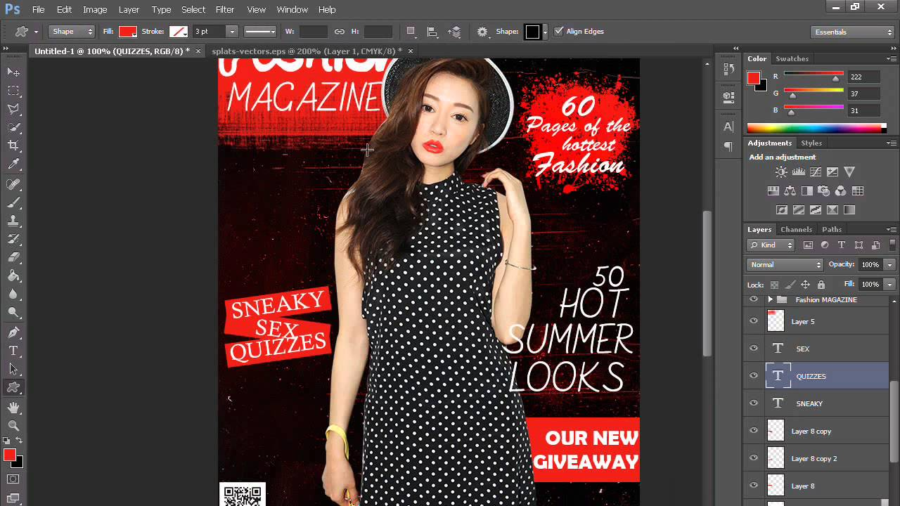Magazine Cover Photoshop CS6 + PSD Files - YouTube