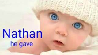 top baby boy names with meaning