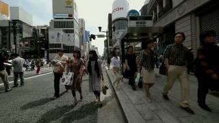 Walking around TOKYO -Ginza(pedestrian zone)-