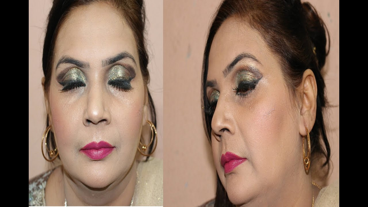 Simple Party Makeup At Home | Beauty Tips By Gulnaz #1 - YouTube