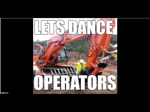 Ground Crew loving the new Doosan excavator construction equipment with ground rake digger