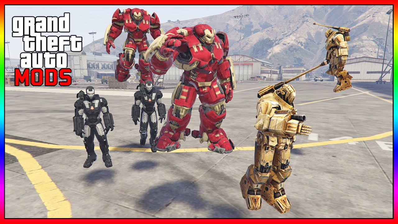 New Batalha Épica: HULK VS IRON MAN (Hammer Drones) - GTA V MOD HULK  CS28