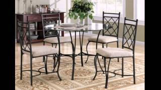 Dining Room Furniture Glass Table Top  4 Chairs 5-piece Dinette Set Kitchen New