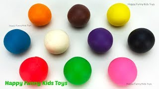 Learn Colors with Play Doh Balls and Whale Dog Molds Surprise Toys Chupa Chups The Good Dinosaur Egg