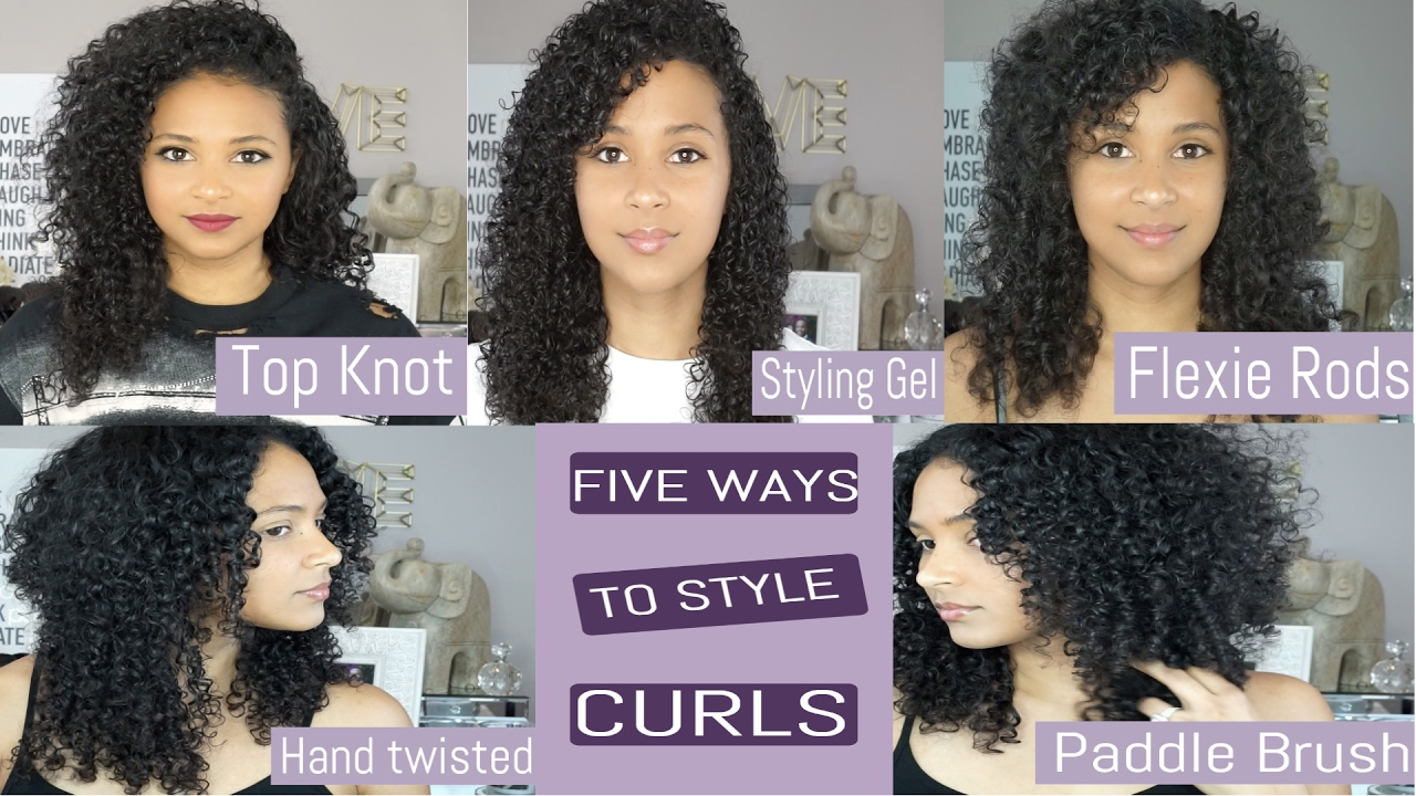 easy ways to style curly hair five ways to style curly hair 3c lovekenziie 1765