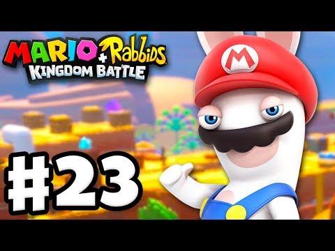 Mario + Rabbids Kingdom Battle - Gameplay Walkthrough Part 23 - World 2 100%! All Challenges!