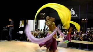 Veil Poi solo at Anais Belly Dance & Fusions Hafla